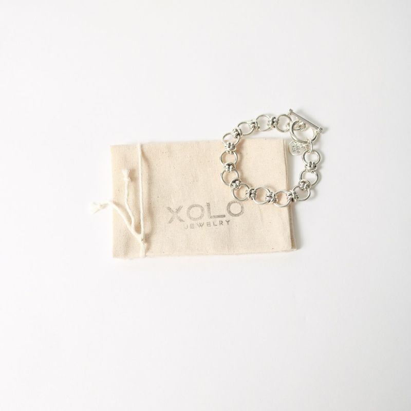 XOLO JEWELRY [ショロジュエリー] HORN LINK ブレスレット12mm [XOB019-19] SILVER