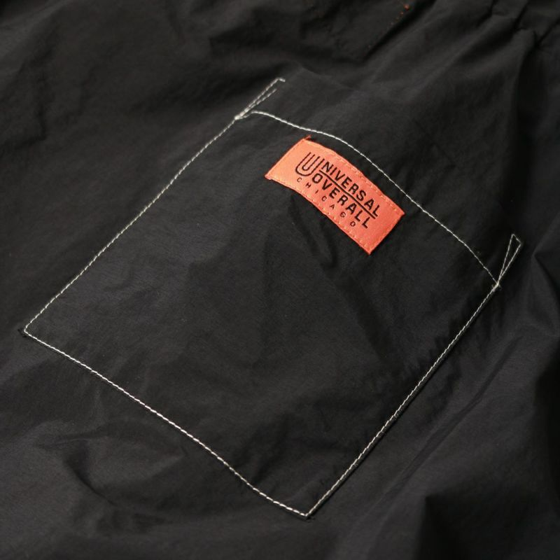 UNIVERSAL OVERALL [ユニバーサルオーバーオール] 別注ナイロンボリュームフレアスカート [U2122740IN-JF] BLACK
