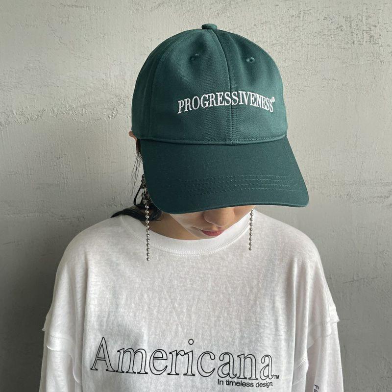 Americana [アメリカーナ] ロゴ刺繍キャップ [GW-001-2] ディープグリー