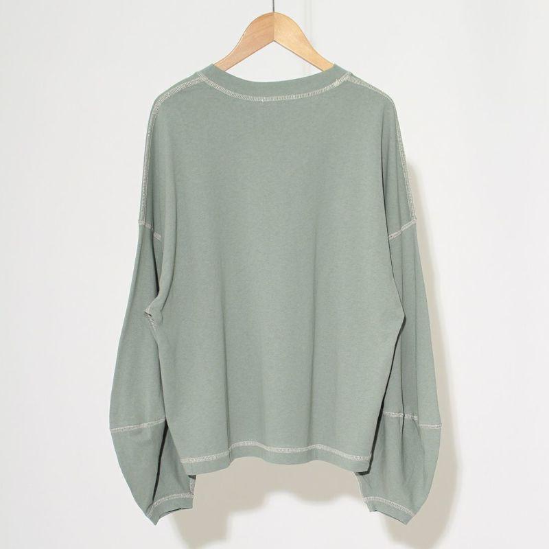 Jf Ready Made [ジェイエフレディメイド] 配色ステッチ袖ボリュームデザインTシャツ [2704535] 421 ミント