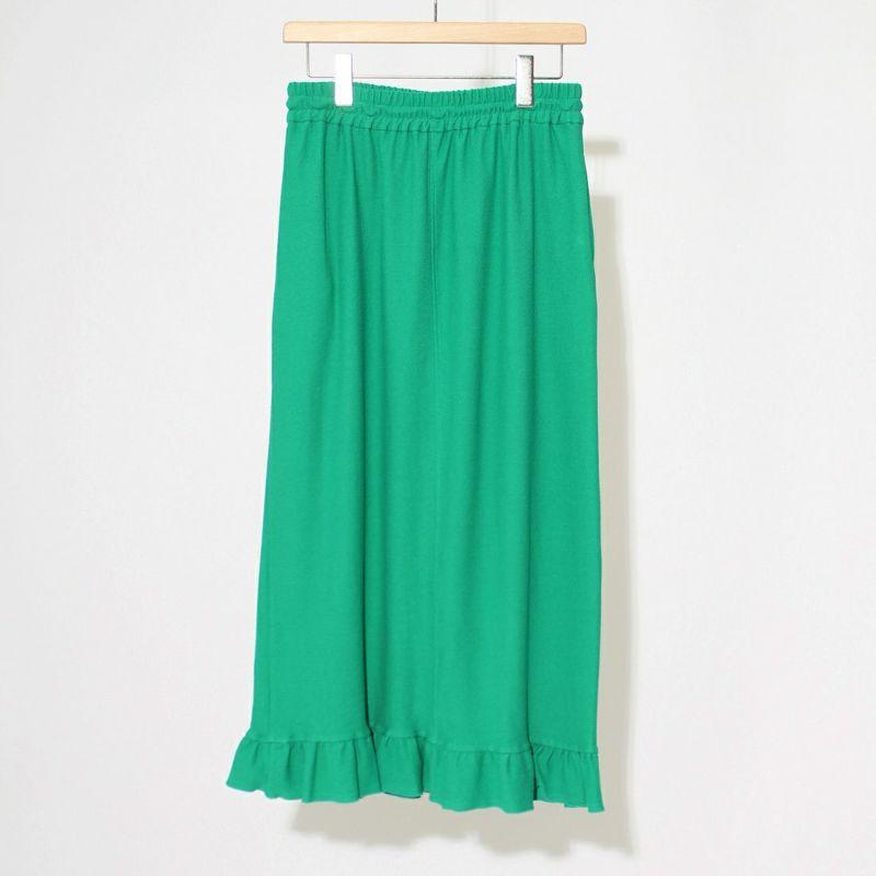 THE SHINZONE [ザ シンゾーン] フリルヘムスカート [21MMSCU25] 75 GREEN