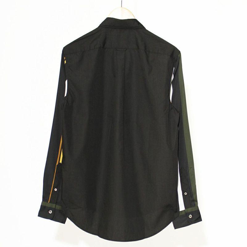 FRED PERRY [フレッドペリー] ストライプスリーブシャツ [F4584] 07 BLACK