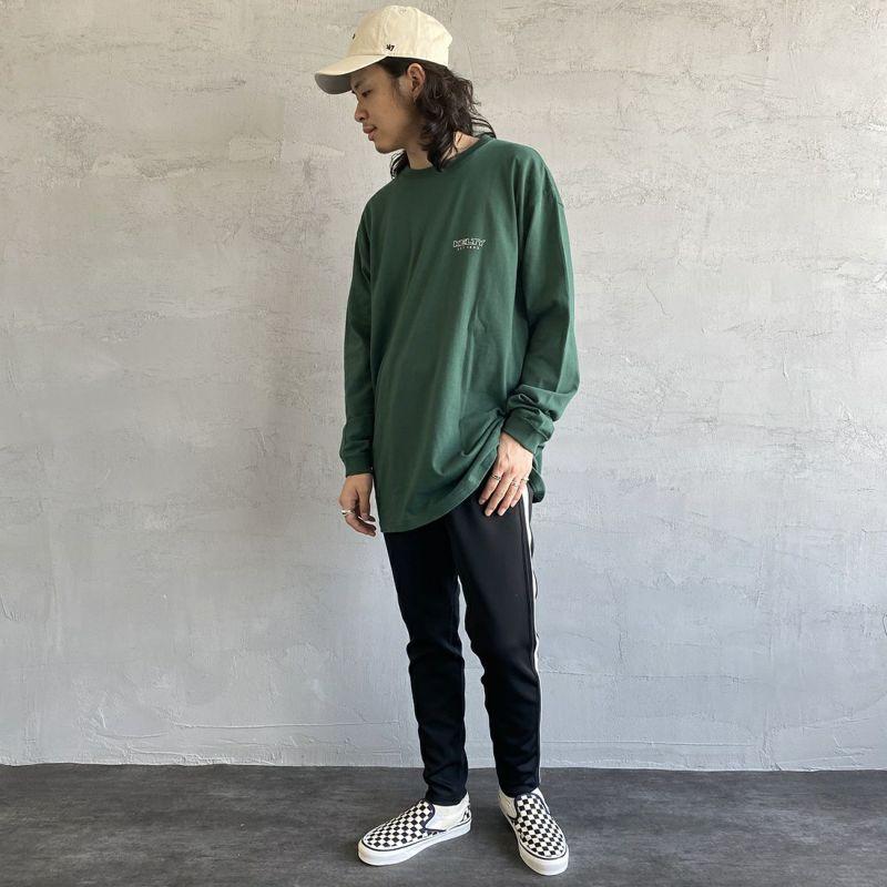 KELTY [ケルティ] 別注 バックビッグロゴプリントTシャツ [KB-212-53002-JF] グリーン &&モデル身長:173cm 着用サイズ:L&&