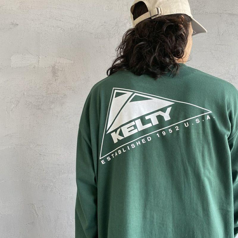KELTY [ケルティ] 別注 バックビッグロゴプリントTシャツ [KB-212-53002-JF] ホワイト &&モデル身長:173cm 着用サイズ:M&&