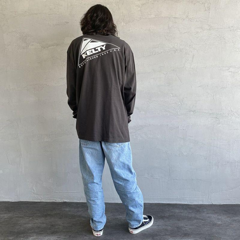 KELTY [ケルティ] 別注 バックビッグロゴプリントTシャツ [KB-212-53002-JF] スミクロ &&モデル身長:173cm 着用サイズ:L&&