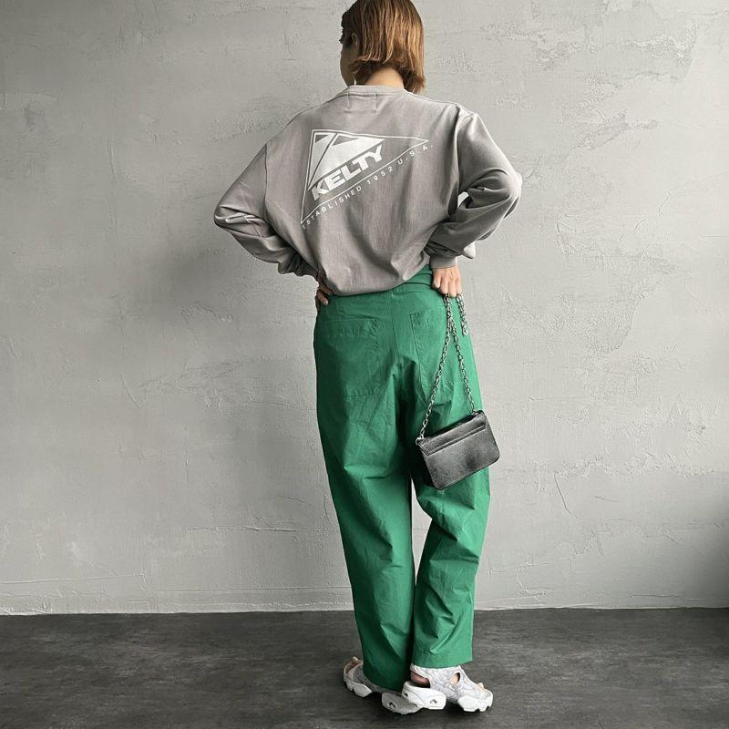 KELTY [ケルティ] 別注 バックプリント ビッグロングスリーブTシャツ [KB-212-53002-JF] ストーングレー &&モデル身長:163cm 着用サイズ:S&&