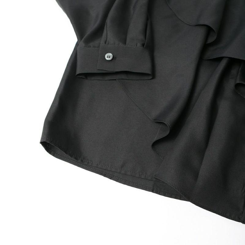 Jeans Factory Clothes [ジーンズファクトリークローズ] アシメドレープシャツ [7613518] 03 BLACK