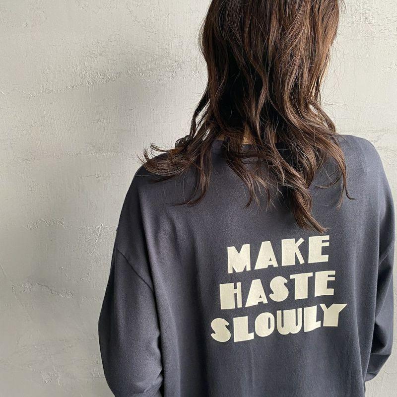 +81 BRANCA [ハチイチブランカ] 別注 ボリューム袖ポケットロングスリーブTシャツ [21AW-CS37-JF] SUMIKURO