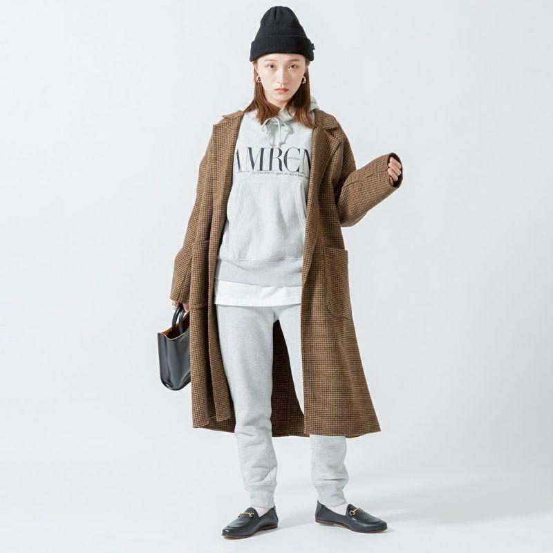 +81 BRANCA [ハチイチブランカ] 別注 ボリューム袖ポケットロングスリーブTシャツ [21AW-CS37-JF] WHITE &&モデル身長:160cm 着用サイズ:F&&