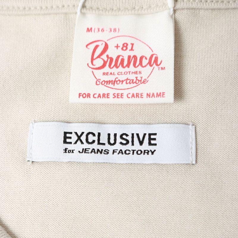 +81 BRANCA [ハチイチブランカ] 別注 ボリューム袖ポケットロングスリーブTシャツ [21AW-CS37-JF] GREIGE