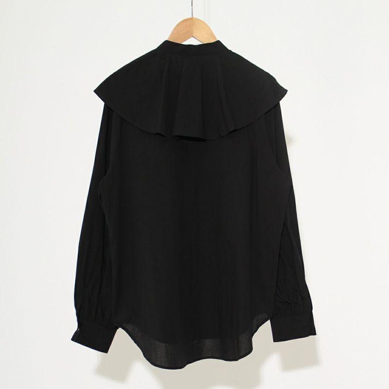 hwyl [ヒュイル] ラッフルカラーシャツ [15285617] 88 ブラック