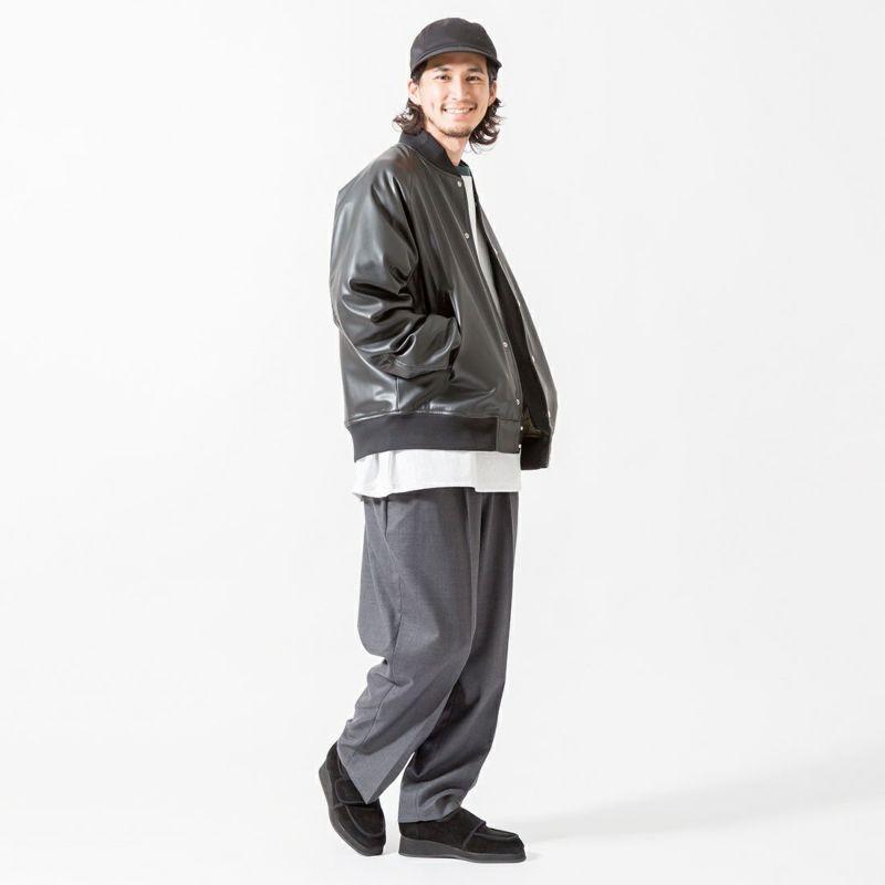 Noir Fabrik [ヌワールファブリック] T/Wバルーンイージーパンツ [BALLOON-M-213-02-IN] DK.GRAY &&モデル身長:175cm 着用サイズ:M&&