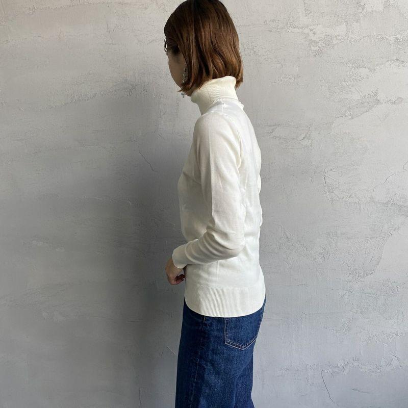 GICIPI [ジチピ] タートルネックジャストフィットニットソー [2111A] PANNA&&モデル身長:163cm 着用サイズ:1&&