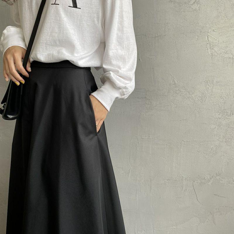 USINE [ユジーヌ] 玉虫調ギャバフレアスカート [GWBSS1045-01] ブラック