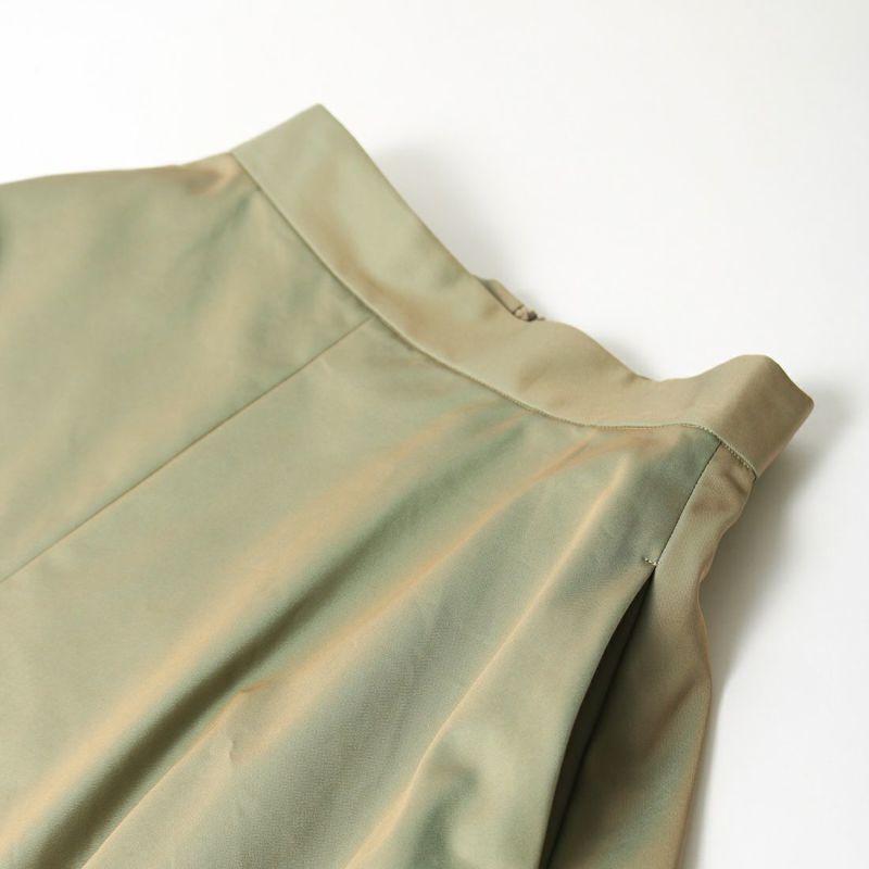 USINE [ユジーヌ] 玉虫調ギャバフレアスカート [GWBSS1045-01] オリーブ