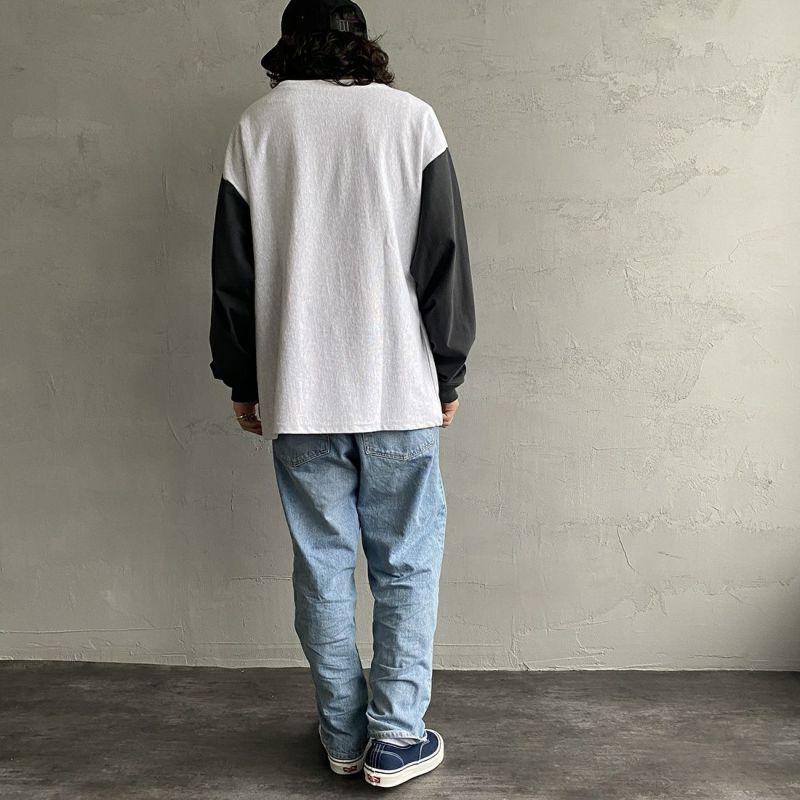 Jeans Factory Clothes [ジーンズファクトリークローズ] ヘビーウエイトTシャツ [2123-424IN] ASH/BLK &&モデル身長:173cm 着用サイズ:L&&