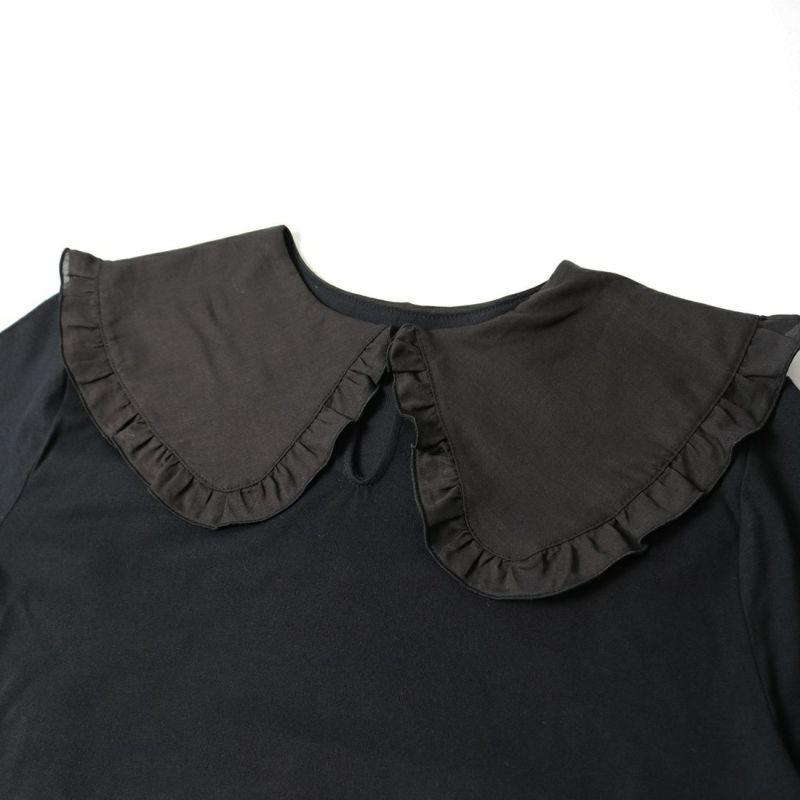 ALLUMER [アリュメール] フリルカラーTシャツ [8141450] 700 BLACK