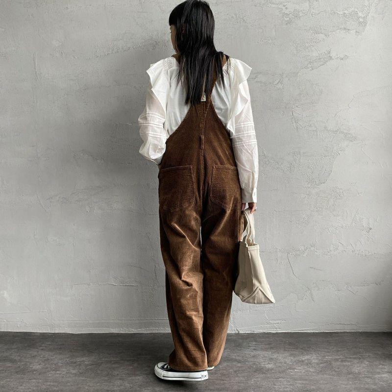 PICCADILLY [ピカデリー] 別注 オーバーオール [PYIN-OA002-JF] BROWN &&モデル身長:156cm 着用サイズ:F&&