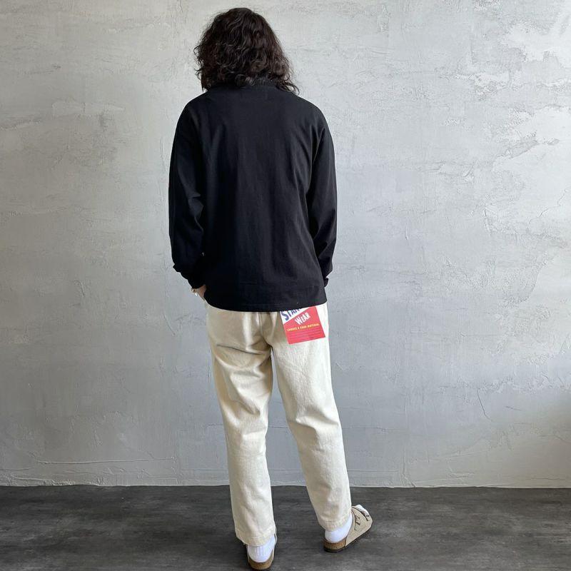 UNIVERSAL OVERALL [ユニバーサルオーバーオール] 別注 ポケット付きロングスリーブTシャツ [U213215IN-JF] BLACK&&モデル身長:173cm 着用サイズ:M&&