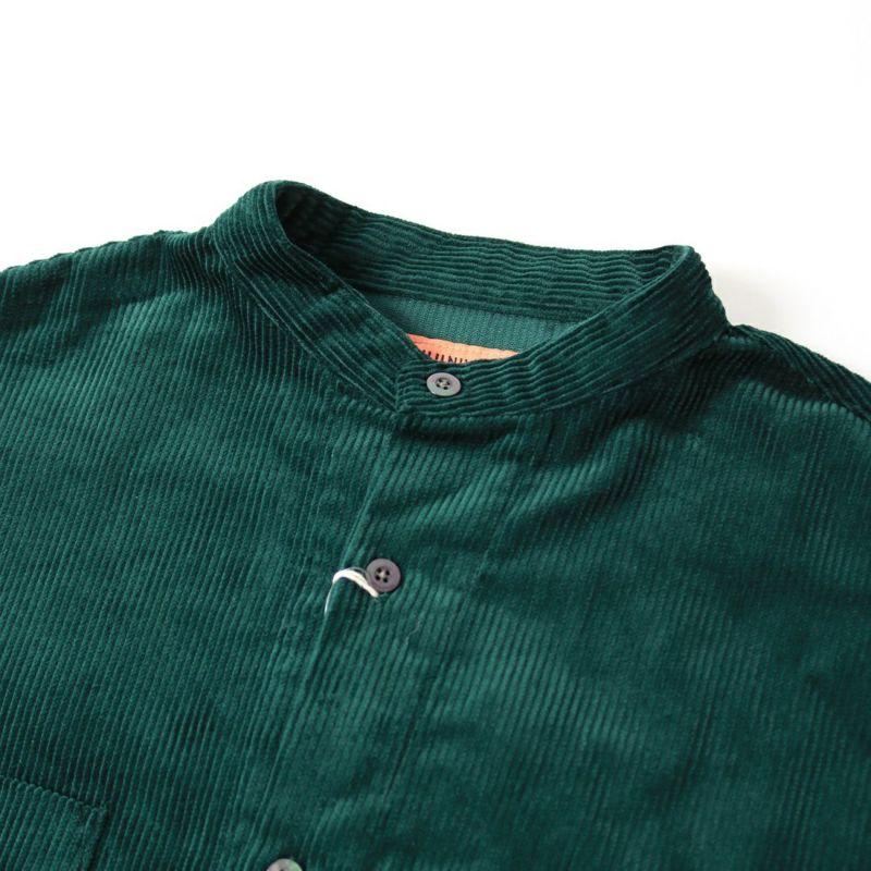 UNIVERSAL OVERALL [ユニバーサルオーバーオール] 別注 コーデュロイバンドカラーCPOシャツ [U2133140IN-JF] GREEN