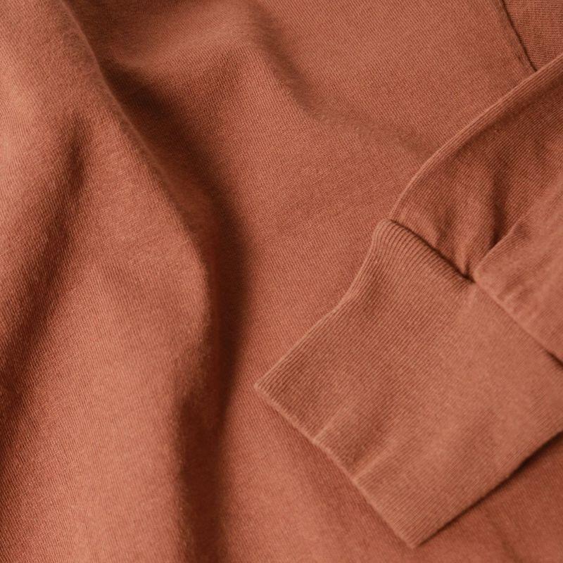 Health knit [ヘルスニット] アメリカンジャージーラウンドヘムロングスリーブTシャツ [31025] BROWN
