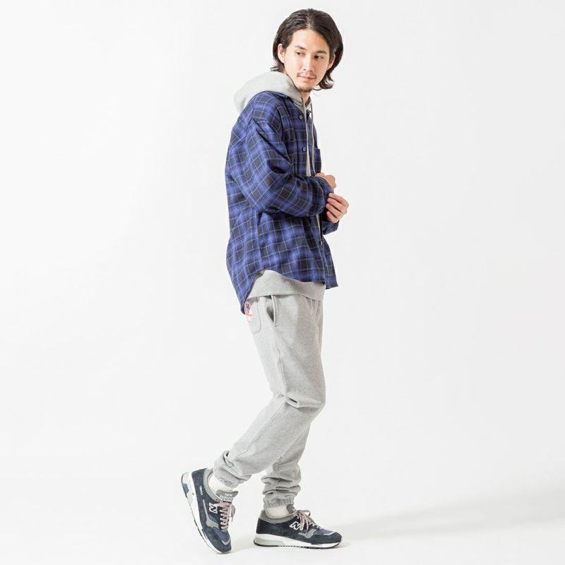 UNIVERSAL OVERALL [ユニバーサルオーバーオール] 別注 チェック柄ビッグシャツ [U2133139IN-JF] BLU CHECK &&モデル身長:175cm 着用サイズ:M&&