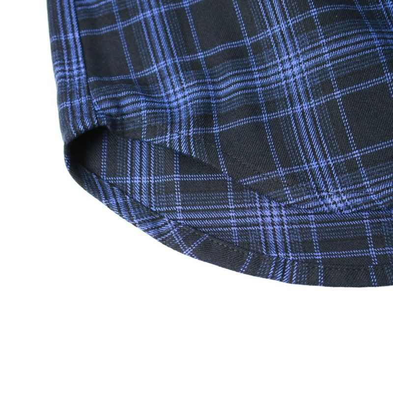 UNIVERSAL OVERALL [ユニバーサルオーバーオール] 別注 チェック柄ビッグシャツ [U2133139IN-JF] BLU CHECK