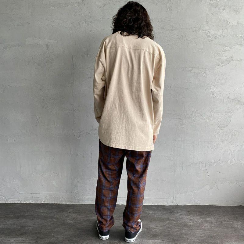 UNIVERSAL OVERALL [ユニバーサルオーバーオール] 別注 シェフパンツ [U2131601IN-JF] BRN CHECK&&モデル身長:173cm 着用サイズ:L&&