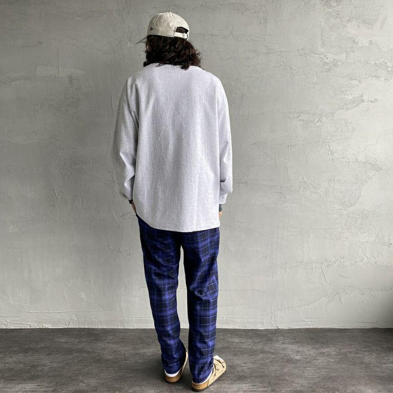 UNIVERSAL OVERALL [ユニバーサルオーバーオール] 別注 シェフパンツ [U2131601IN-JF] BLU CHECK&&モデル身長:173cm 着用サイズ:S&&