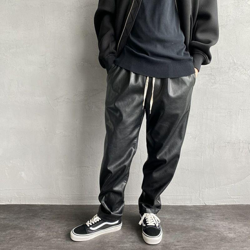 BLK LEATHE&&モデル身長:173cm 着用サイズ:M&&