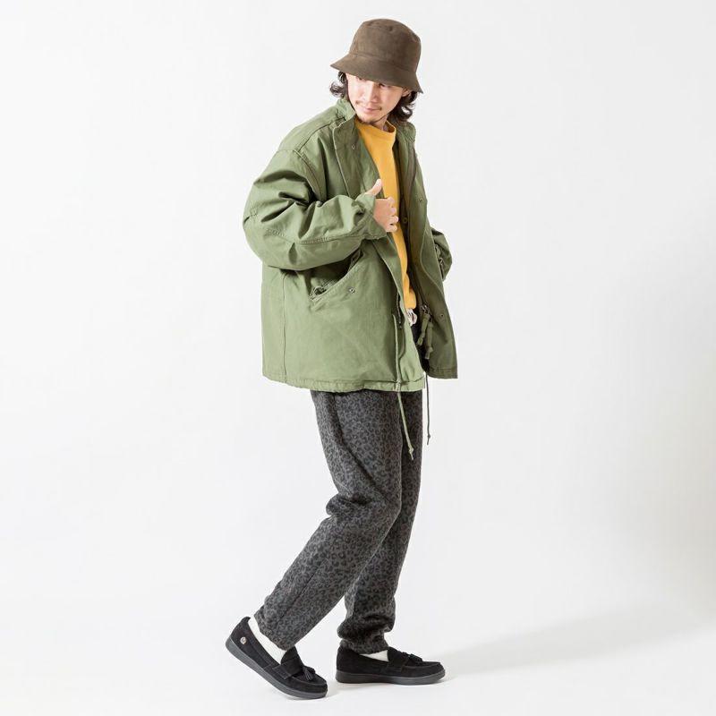 UNIVERSAL OVERALL [ユニバーサルオーバーオール] 別注 シェフパンツ [U2131602IN-JF] GRY LEO &&モデル身長:175cm 着用サイズ:L&&