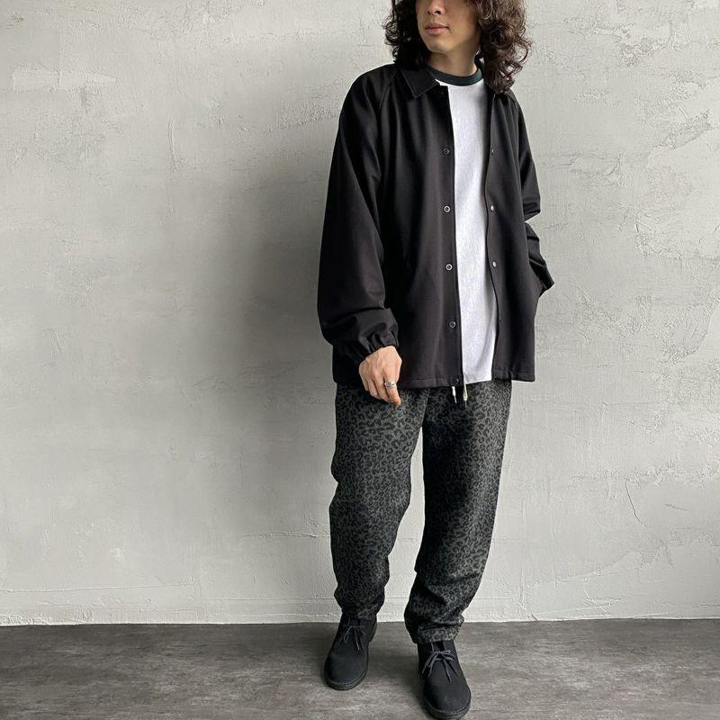 UNIVERSAL OVERALL [ユニバーサルオーバーオール] 別注 シェフパンツ [U2131602IN-JF] GRY LEO&&モデル身長:173cm 着用サイズ:L&&