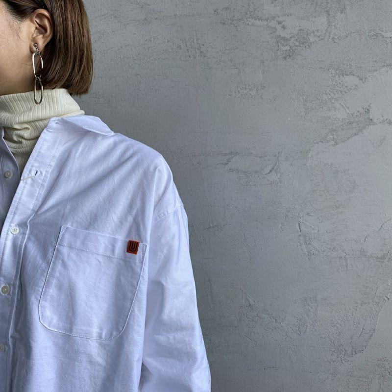 UNIVERSAL OVERALL [ユニバーサルオーバーオール] 別注 ラウンドカラービッグシャツ [U2132100IN-JF] WHITE