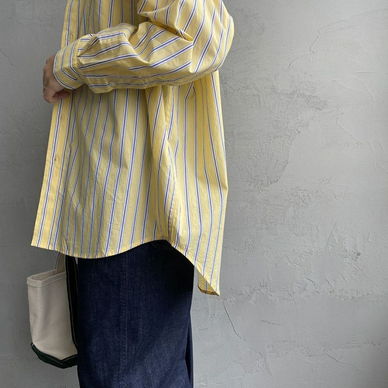 UNIVERSAL OVERALL [ユニバーサルオーバーオール] 別注 ラウンドカラービッグシャツ [U2132100IN-JF] YELLOW ST