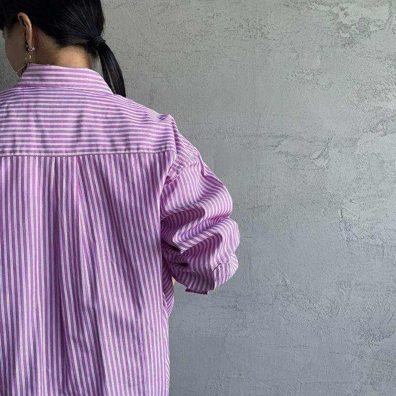 UNIVERSAL OVERALL [ユニバーサルオーバーオール] 別注 ラウンドカラービッグシャツ [U2132100IN-JF] PINK ST
