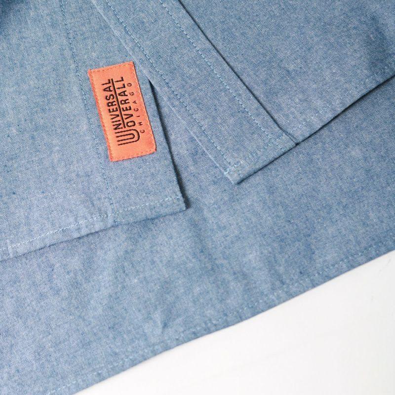 UNIVERSAL OVERALL [ユニバーサルオーバーオール] 別注 ラウンドカラービッグシャツ [U2132100IN-JF] BLUE