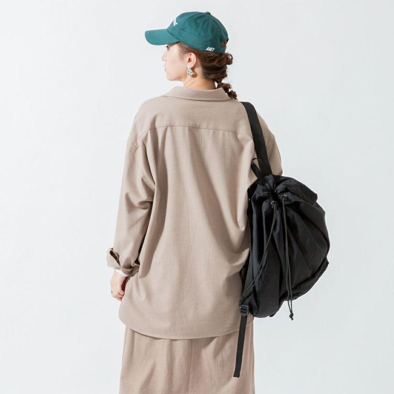UNIVERSAL OVERALL [ユニバーサルオーバーオール] 別注 CPOビッグシャツ [U2132200IN-JF] BEIGE &&モデル身長:160cm 着用サイズ:F&&