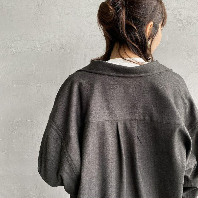 UNIVERSAL OVERALL [ユニバーサルオーバーオール] 別注 CPOビッグシャツ [U2132200IN-JF] CHARCOAL