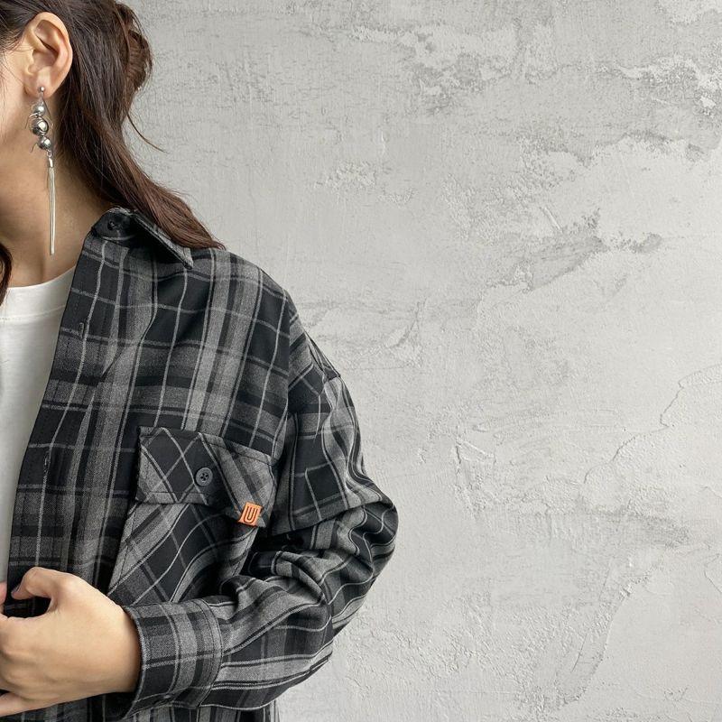UNIVERSAL OVERALL [ユニバーサルオーバーオール] 別注 CPOビッグシャツ [U2132200IN-JF] BLACK CHK