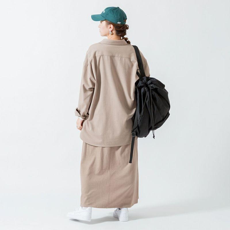 UNIVERSAL OVERALL [ユニバーサルオーバーオール] 別注 ベイカースカート [U2132700IN-JF] BEIGE &&モデル身長:160cm 着用サイズ:F&&