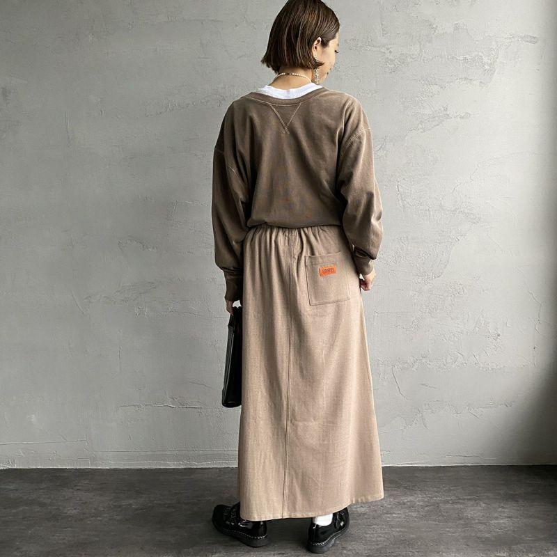 UNIVERSAL OVERALL [ユニバーサルオーバーオール] 別注 ベイカースカート [U2132700IN-JF] BEIGE &&モデル身長:163cm 着用サイズ:F&&