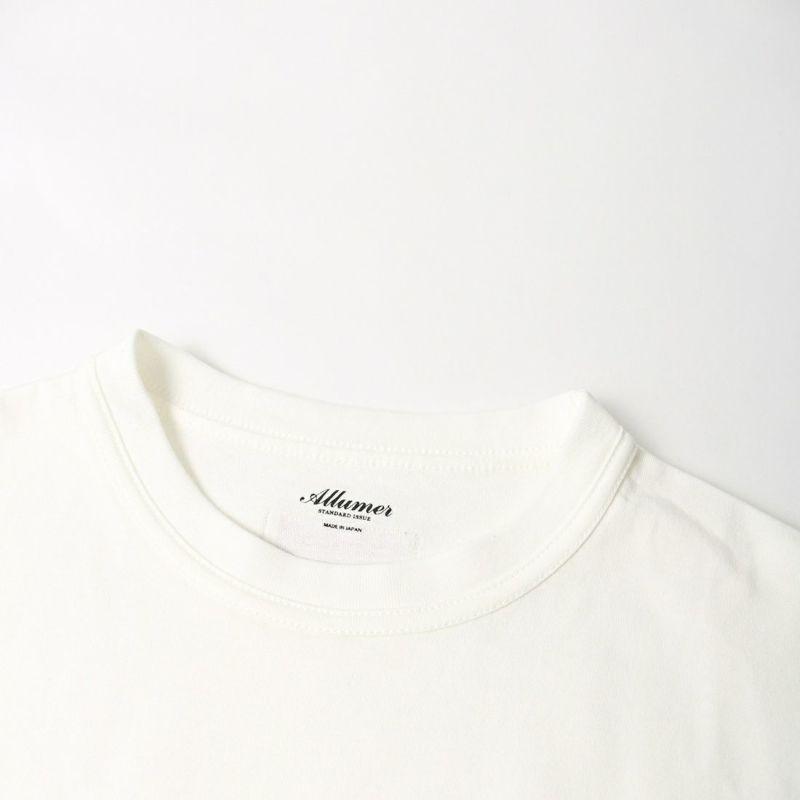 ALLUMER [アリュメール] ダブルバインダークルーネックプリントT YEAL [8141461] 900 WHITE