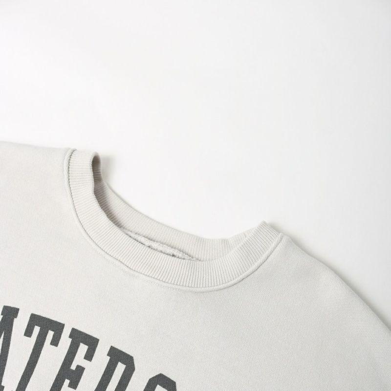 MICA&DEAL × JEANSFACTORY [マイカアンドディール × ジーンズファクトリー] 別注 ワイドシルエット カレッジロゴスウェット [012130914601-JF] L.GRAY
