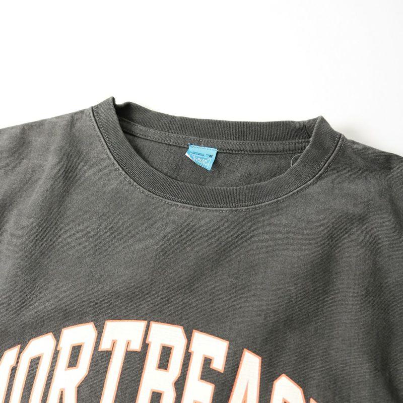 SCREEN STARS [スクリーンスターズ] 別注 カレッジプリント ピグメント ロングスリーブTシャツ [2123-423INPT-JF] BLACK