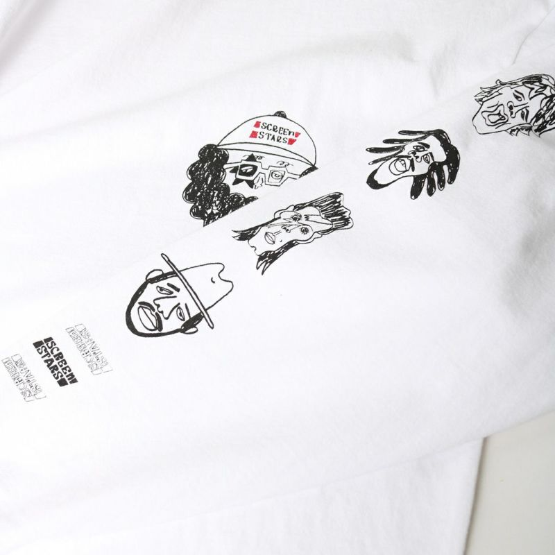 chi-bee×SCREEN STARS [チービー×スクリーンスターズ] CHI-BEE プリントTシャツ [2123-002SSCB-B] OFF WHITE