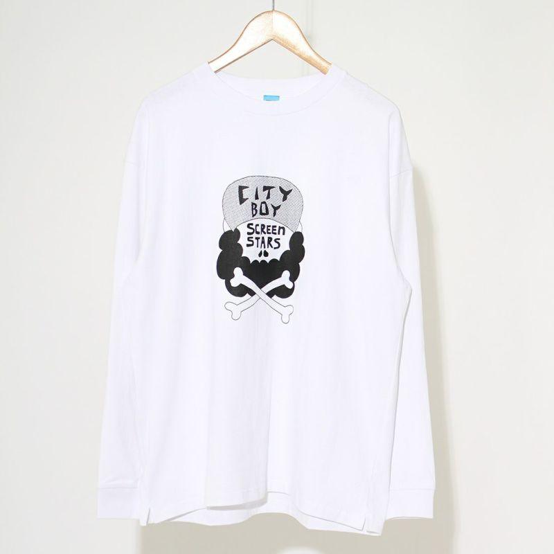 chi-bee×SCREEN STARS [チービー×スクリーンスターズ] CHI-BEE プリントTシャツ [2123-002SSCB-C] OFF WHITE