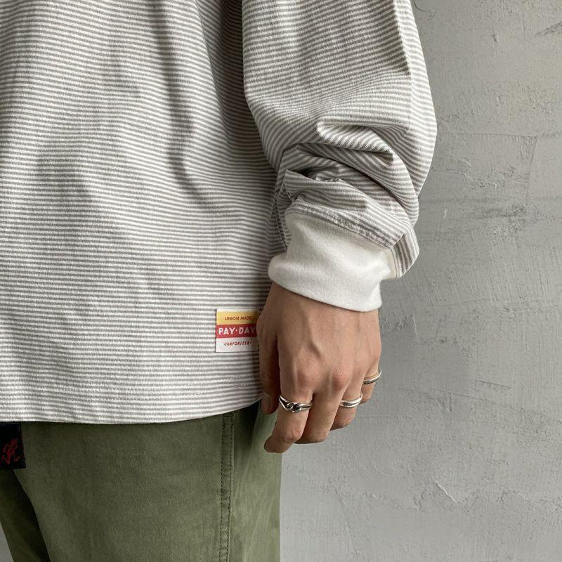 PAY DAY [ペイデイ] 別注 ビッグリンガーボーダーTシャツ [PD-IN-CS008-JF] GREY BDR