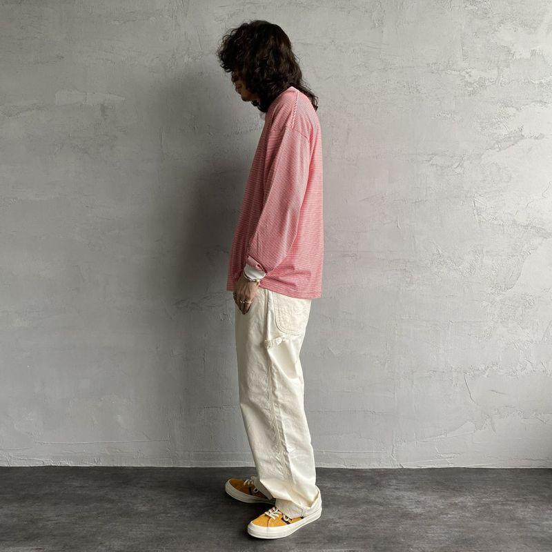 PAY DAY [ペイデイ] 別注 ビッグリンガーボーダーTシャツ [PD-IN-CS008-JF] RED BDR&&モデル身長:173cm 着用サイズ:M&&