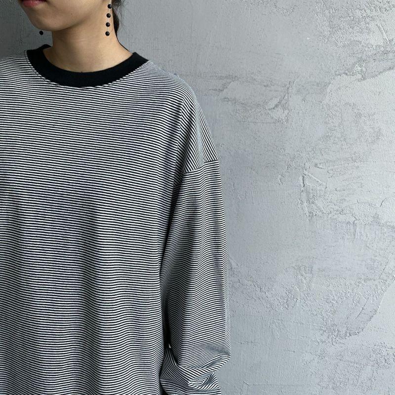 PAY DAY [ペイデイ] 別注 ビッグリンガーボーダーTシャツ [PD-IN-CS008-JF] BLACK BDR