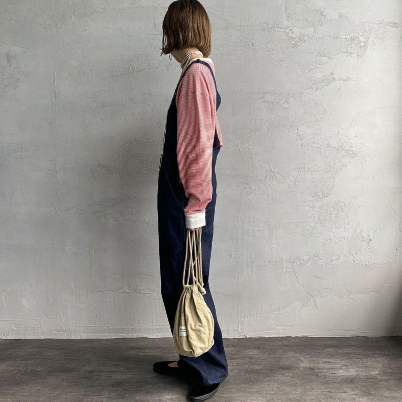 PAY DAY [ペイデイ] 別注 ビッグリンガーボーダーTシャツ [PD-IN-CS008-JF] RED BDR&&モデル身長:163cm 着用サイズ:S&&